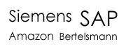 Siemens SAP Amazon Bertelsmann